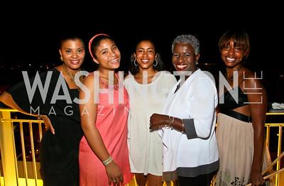 Photo by Tony Powell. Tiffany Rose, Jordan Rose, Ashley Ettienne, Josephine Reed-Taylor, Tené Dolphin. Step Afrika Homecoming 2010. Lansburgh Theatre & Harman Center. June 19, 2010