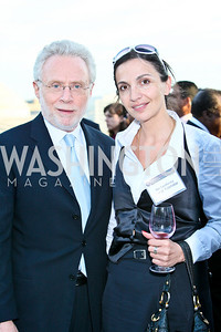 Photo by Tony Powell. Susan G. Komen for the Cure® Global Health Alliance Launch. Newseum. June 8, 2010. Wolf Blitzer, Tamar Tchelidze