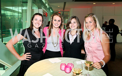 Photo by Tony Powell. Susan G. Komen for the Cure® Global Health Alliance Launch. Newseum. June 8, 2010. Elise Cargill, Ellie LeBlonde, Jenna Raduns, Lacy Barnes