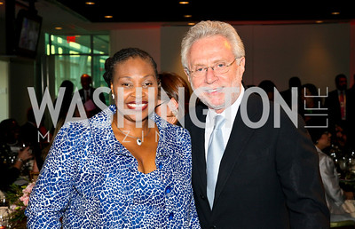 Photo by Tony Powell. Susan G. Komen for the Cure® Global Health Alliance Launch. Newseum. June 8, 2010. Yvonne Chaka Chaka, Wolf Blitzer
