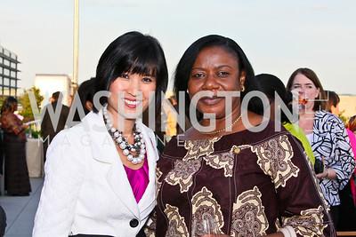 Photo by Tony Powell. Susan G. Komen for the Cure® Global Health Alliance Launch. Newseum. June 8, 2010. Mona Locke, Congo Ambassador Faida Mitifu