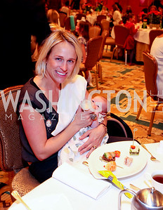 Elizabeth Miller and baby Agnes. THEARC's Dr. Seuss Tea. Four Seasons Hotel. October 11, 2009. photos by Tony Powell