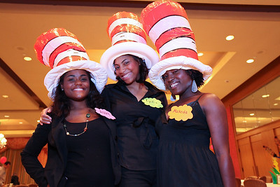 Ashley Judey, Lydia John, Makeda Abraham. THEARC's Dr. Seuss Tea. Four Seasons Hotel. October 11, 2009. photos by Tony Powell