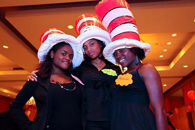 Ashley Judey, Lydia John, Makeda Abraham. THEARC's Dr. Seuss Tea. Four Seasons Hotel. October 11, 2009. photos by Tony Powell