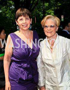 Adrienne Arsht, Josephine Cooper. Photo by Tony Powell. Tammy Haddad WHCAD Garden Brunch. May 1, 2010