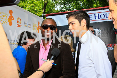 Actors Omar Epps, Adrian Grenier. Photo by Tony Powell. Tammy Haddad WHCAD Garden Brunch. May 1, 2010
