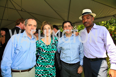 Mike Dorning, Rachel Goslins, Julius Genachowski, Yelberton Watkins. Photo by Tony Powell. Tammy Haddad WHCAD Garden Brunch. May 1, 2010