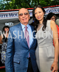 Rupert and Wendi Murdoch. Photo by Tony Powell. Tammy Haddad WHCAD Garden Brunch. May 1, 2010