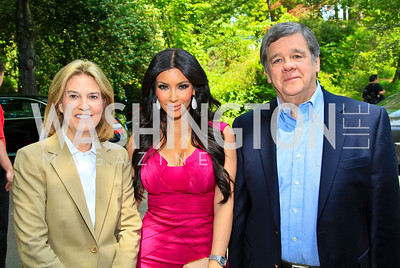Greta Van Susteren, Kim Kardashian, John Coale. Photo by Tony Powell. Tammy Haddad WHCAD Garden Brunch. May 1, 2010