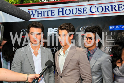 Kevin, Nick, and Joe Jonas. Photo by Tony Powell. Tammy Haddad WHCAD Garden Brunch. May 1, 2010