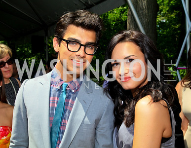 Joe Jonas, Demi Lovato. Photo by Tony Powell. Tammy Haddad WHCAD Garden Brunch. May 1, 2010