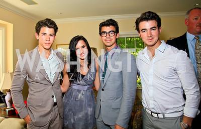 Nick Jonas, Demi Lovato, Joe Jonas, Kevin Jonas. Photo by Tony Powell. Tammy Haddad WHCAD Garden Brunch. May 1, 2010