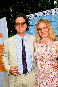 Davis Guggenheim, Elizabeth Shue. Photo by Tony Powell. Tammy Haddad WHCAD Garden Brunch. May 1, 2010