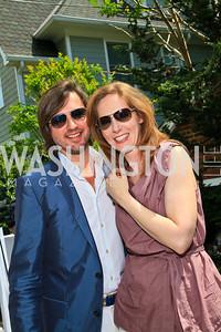 Christopher Reiter, Juleanna Glover. Photo by Tony Powell. Tammy Haddad WHCAD Garden Brunch. May 1, 2010
