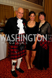 Tom McKnight, Anna Dzvonik, Marion Sabety, Tartan Ball, November 13, 2010, Kyle Samperton