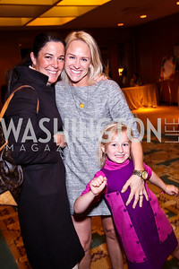 Photo by Tony Powell. Debbie Winsor, Elizabeth Miller and daughter. Tea with Mrs. B to Benefit THEARC. Four Seasons. October 17, 2010
