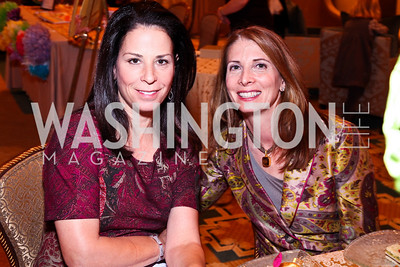 Photo by Tony Powell. Nancy Jacobson, Susan Ascher. Tea with Mrs. B to Benefit THEARC. Four Seasons. October 17, 2010