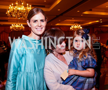 Photo by Tony Powell. Mae Haney Greenan, Emmy and Emeline Haney. Tea with Mrs. B to Benefit THEARC. Four Seasons. October 17, 2010