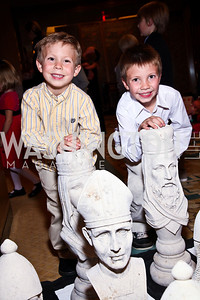 Photo by Tony Powell. Jeremy and Benjamin Jeannot. Tea with Mrs. B to Benefit THEARC. Four Seasons. October 17, 2010