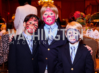 Photo by Tony Powell. Sebby Samadi, Connor and Charlie Caldwell. Tea with Mrs. B to Benefit THEARC. Four Seasons. October 17, 2010