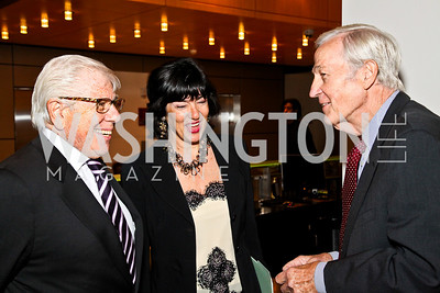 Photo by Tony Powell. Carl Bernstein, Christiane Amanpour, Roger Mudd. The 20th Anniversary Celebration of The Center for  Public Integrity. Newseum. October 21, 2010
