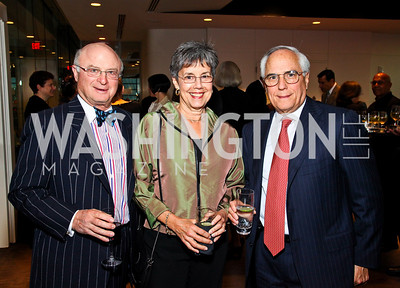 Photo by Tony Powell. Charles and Julia Eisendrath, Michael Cardozo. The 20th Anniversary Celebration of The Center for  Public Integrity. Newseum. October 21, 2010