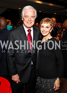 Photo by Tony Powell. Nick and Nina Clooney. The 20th Anniversary Celebration of The Center for  Public Integrity. Newseum. October 21, 2010