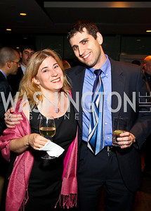 Photo by Tony Powell. Caroline Jarboe, Josh Israel. The 20th Anniversary Celebration of The Center for  Public Integrity. Newseum. October 21, 2010