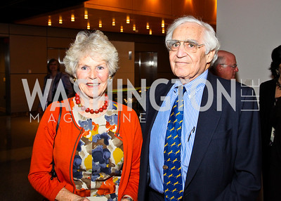 Photo by Tony Powell. Ann and Walter Pincus. The 20th Anniversary Celebration of The Center for  Public Integrity. Newseum. October 21, 2010
