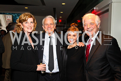 Photo by Tony Powell. Lucy Dalglish, Shelby Coffey, Nina and Nick Clooney. The 20th Anniversary Celebration of The Center for  Public Integrity. Newseum. October 21, 2010