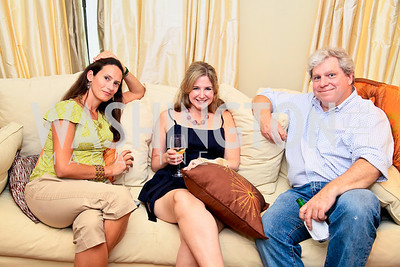 Lyn Stout, Alison Bates Fisher, Joe Lockhart. Photo by Tony Powell. The Natural Resources Defense Council for a Green Scene Luncheon. Joe Lockhart's residence. May 2, 2010