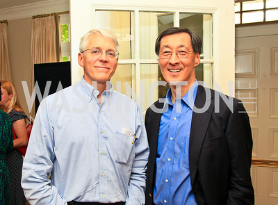 NRDC Executive Director Peter Lehner, White House Correspondents' Association President Ed Chen. Photo by Tony Powell. The Natural Resources Defense Council for a Green Scene Luncheon. Joe Lockhart's residence. May 2, 2010
