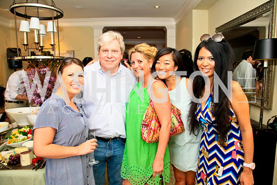 Christine Delargy, Joe Lockhart, Victoria Michael, Pamela Sorensen, Christina Sevilla. Photo by Tony Powell. The Natural Resources Defense Council for a Green Scene Luncheon. Joe Lockhart's residence. May 2, 2010