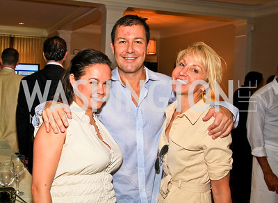 Melissa Torres, Julian Epstein, Nicole Backus. Photo by Tony Powell. The Natural Resources Defense Council for a Green Scene Luncheon. Joe Lockhart's residence. May 2, 2010