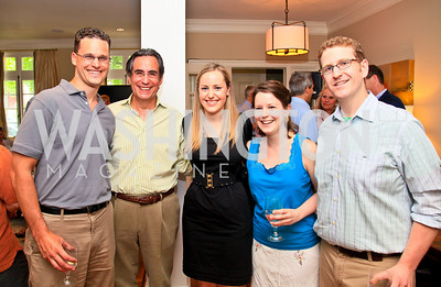 Jake Schmidt, Jacob Scherr, Gen Scoville, Heather Allen, Richie Ackerman. Photo by Tony Powell. The Natural Resources Defense Council for a Green Scene Luncheon. Joe Lockhart's residence. May 2, 2010