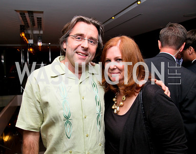"""Photo by Tony Powell. Neil Barrett, Susan Koch. """"The Other City"""" Screening Afterparty. The Source. June 22, 2010"""
