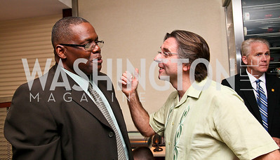 """Photo by Tony Powell. George Walker, Neil Barrett. """"The Other City"""" Screening Afterparty. The Source. June 22, 2010"""