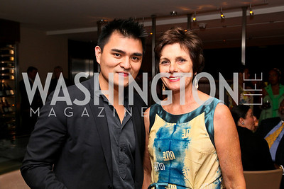"Photo by Tony Powell. Jose Antonio Vargas, Maureen Orth. ""The Other City"" Screening Afterparty. The Source. June 22, 2010"