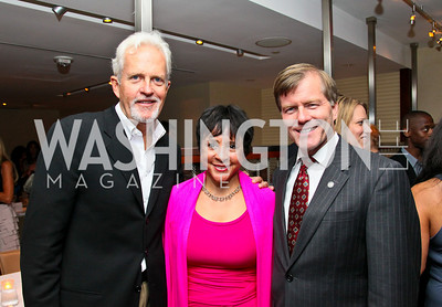 """Photo by Tony Powell. Jack Davies, Sheila Johnson, Governor Bob McDonnell. """"The Other City"""" Screening Afterparty. The Source. June 22, 2010"""