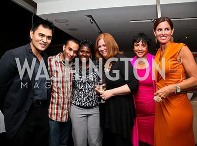 "Photo by Tony Powell. Jose Antonio Vargas, Jose Ramirez, J'Mia Edwards, Susan Koch, Sheila Johnson, Michelle Freeman. ""The Other City"" Screening Afterparty. The Source. June 22, 2010"