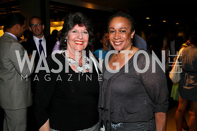 """Photo by Tony Powell. Carol Schwartz, S. Epatha Merkeson. """"The Other City"""" Screening Afterparty. The Source. June 22, 2010"""