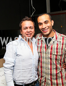 """Photo by Tony Powell. Jorge Alonso, Jose Ramirez. """"The Other City"""" Screening Afterparty. The Source. June 22, 2010"""