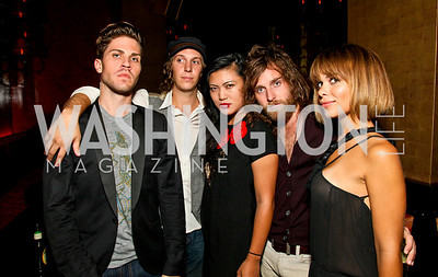 Photo by Tony Powell. Matthew Hemerlein, Ryan Wakeman, Cassidy Karakorn, John Thornley, Vera Chamberlain. Real Housewives of DC Afterparty. Buddha Bar. August 5, 2010