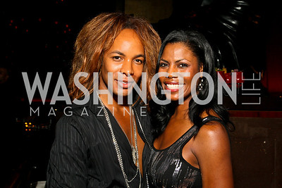 Photo by Tony Powell. Paul Wharton, Omarosa Manigault-Stallwor th. The Real Housewives of DC Premiere Afterparty. Buddha Bar. August 5, 2010