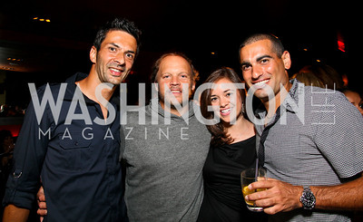 Photo by Tony Powell. Julian Knowle, Mark Ein, Sally Stiebel, Andy Ram. The Real Housewives of DC Premiere Afterparty. Buddha Bar. August 5, 2010
