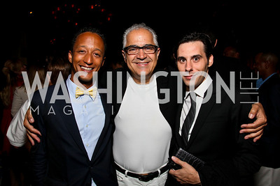 Photo by Tony Powell. Eric Pope, Dr. Ayman Hakki, Christopher Boutlier