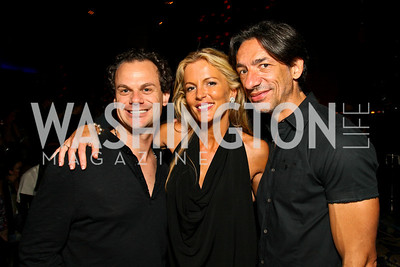 Photo by Tony Powell. James Alefantis, Cat Ommanney, Septime Webre. The Real Housewives of DC Premiere Afterparty. Buddha Bar. August 5, 2010