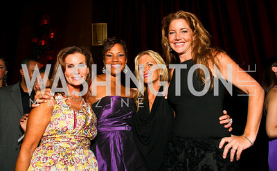 Photo by Tony Powell. Lynda Erkiletian, Stacie Turner, Cat Ommanney, Mary Amons. The Real Housewives of DC Premiere Afterparty. Buddha Bar. August 5, 2010