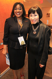 Nevada Winrow with author Amy Tan