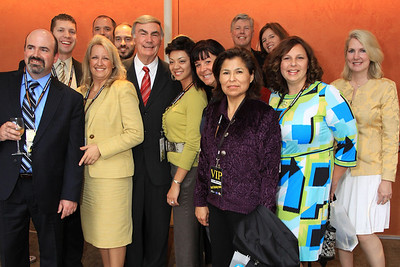 Toby Melver, Sam Donaldson, Monica Cortez, and members of the UNLV Educational Leadership Cohort